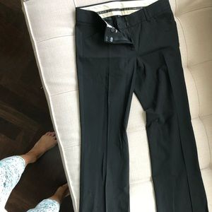 Theory black bootcut suit pants